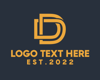 Services - Letter D Golden Monogram logo design