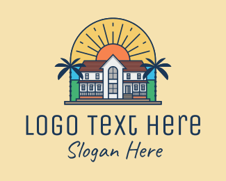 Country House - Tropical Mansion  logo design