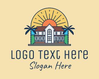 Tropical - Tropical Mansion logo design