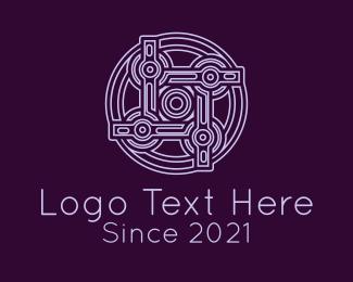 Circle - Purple Celtic Decoration logo design