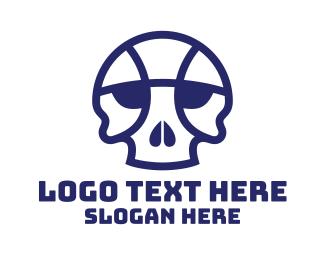 Mvp - Basketball Skull logo design