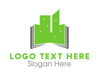 Green Book - Green Buildings logo design