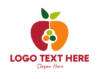 Butter Fruit - Colorful Apple Seed logo design