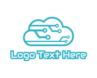 Computer Engineer - Tech Cloud logo design