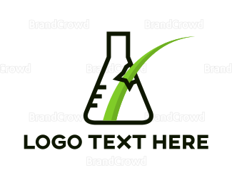 Beaker - Grass Lab logo design