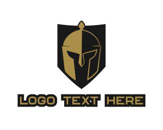 Headgear - Gladiator Shield  logo design