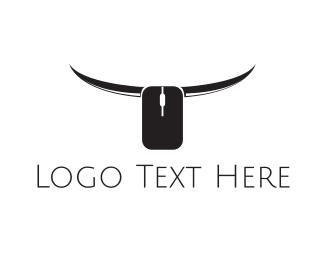 Click - Online Bull logo design