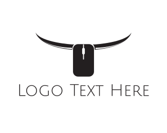 Longhorn - Online Bull logo design