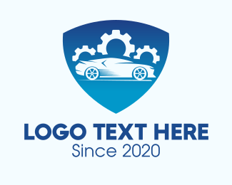 Autoparts - Blue Car Insurance Shield logo design