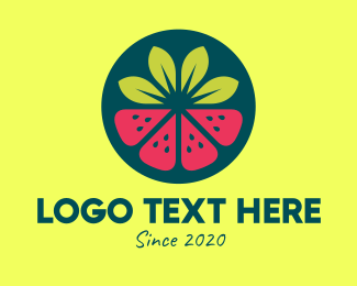 Nutrition - Strawberry Watermelon Fruit logo design