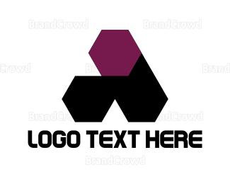 Alabama - Hexagonal Letter A logo design
