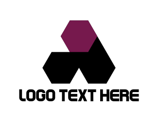 Buy - Hexagonal Letter A logo design