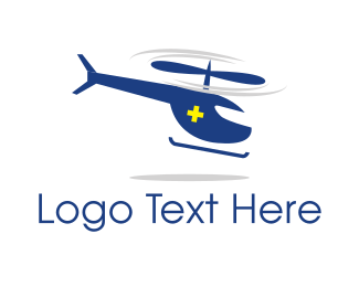 Euro - Medical Ambulance Helicopter logo design