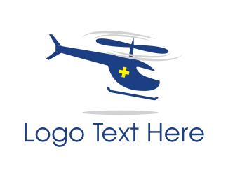 Emergency - Ambulance Helicopter logo design