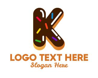 Icing - Donut Bakeshop Letter K logo design
