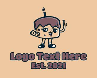 Chocolate - Chocolate Cake Character logo design