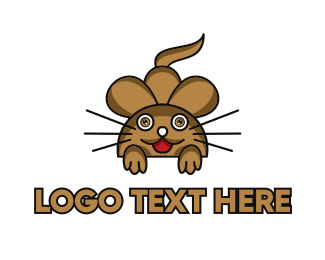 Brown Mouse - Brown Mouse Outline logo design