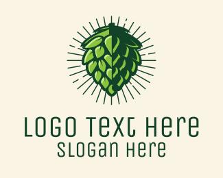 Tea Shop - Hop Plant Beer Hops logo design