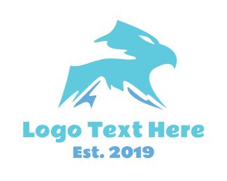 Visionary - Mountain Eagle Head logo design