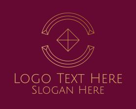 Advertising - Minimal Diamond Circle logo design