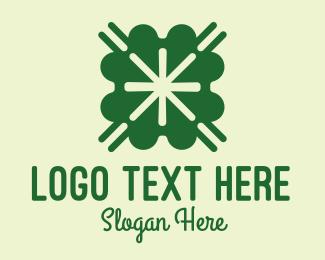 Dealer - Green Lucky Clover  logo design