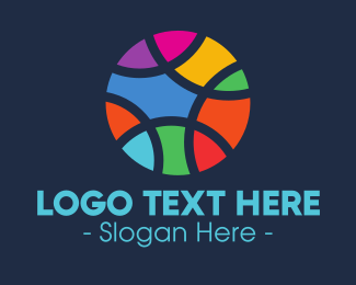 School - Colorful Mosaic Circle Ball logo design