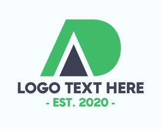 Ad - Modern AD logo design