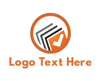 Bookstore - Book Check logo design