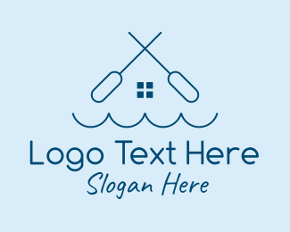 Rowing Team - Water Paddle House logo design