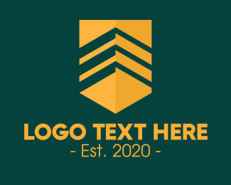 Sergeant - Golden Sergeant Badge logo design