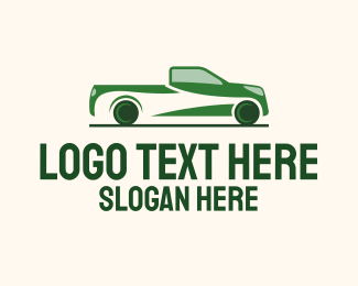 Farm Truck - Green Truck Transportation logo design