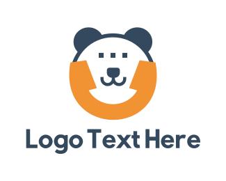 Call - Bear Phone App logo design