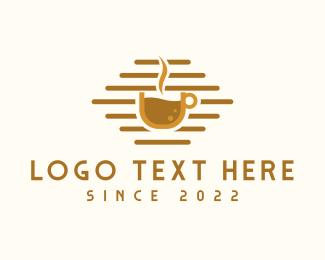 Latte Art - Brown Hot Cafe logo design
