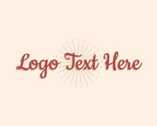 Text Logo - Tropical Wordmark logo design