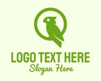 Green Cockatoo Bird  Logo