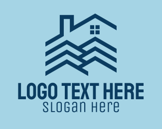 Roof - House Roofing Realty logo design