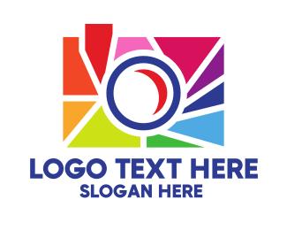 Capture - Colorful Camera logo design