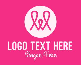 Loop - Pink Loop Letter W logo design