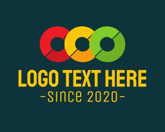 Number 3 - Traffic Light logo design