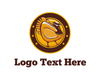 Hen - Gold Turkey logo design