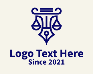 Justice - Blue Pencil Justice logo design