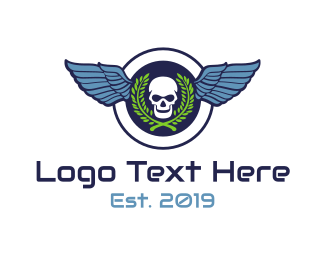 Seal - Skull Wing Seal logo design