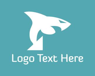 Shark - White Shark logo design