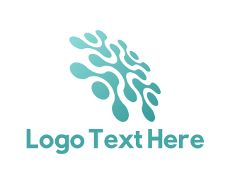 Saas - Green Tech Shape logo design