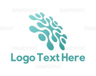Saas - Tech Mint Flower logo design