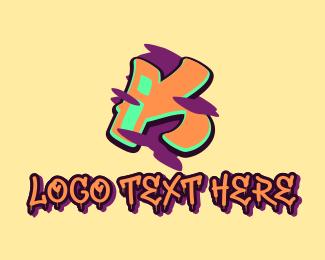Graffiti Art - Graffiti Art Letter K logo design