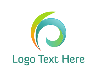 Tropical - Colorful Feathers logo design