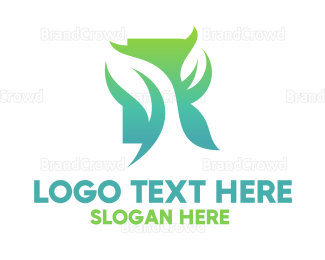 Biology - Green Gradient Organic Leaves logo design