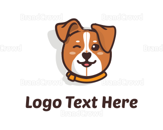 Black And Brown - Cute Dog logo design