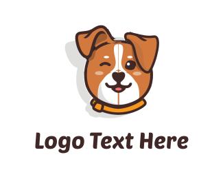 Cartoon - Cute Dog logo design